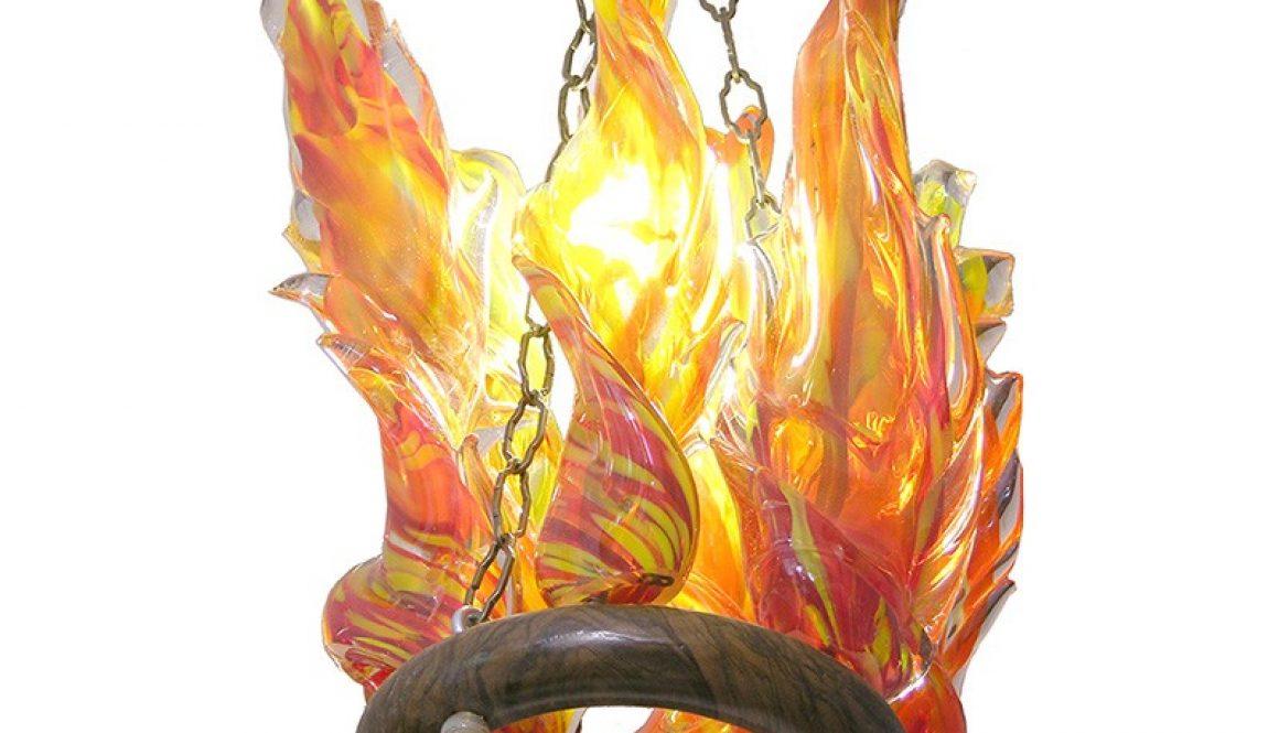 blown glass flame